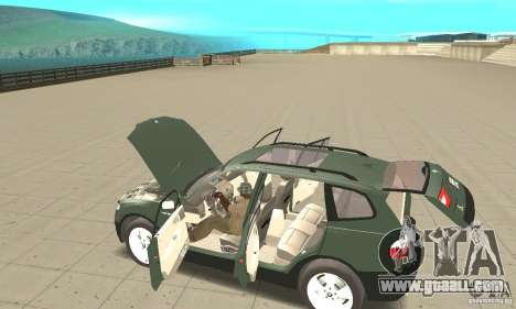 BMW X3 2.5i 2003 for GTA San Andreas upper view