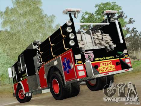Seagrave Marauder Engine SFFD for GTA San Andreas wheels