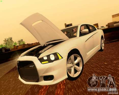 Dodge Charger SRT8 2012 for GTA San Andreas side view