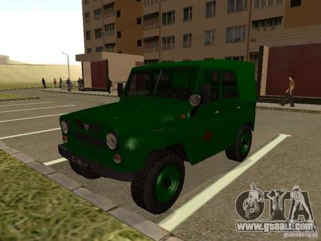 UAZ 469 Military for GTA San Andreas
