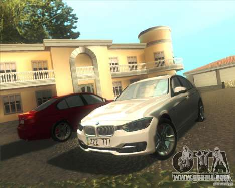 BMW 3 Series F30 2012 for GTA San Andreas side view