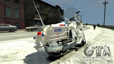 Police Bike for GTA 4 back left view