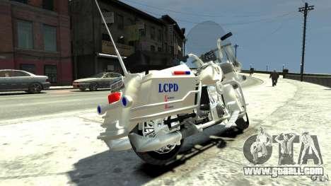 Police Bike for GTA 4 back left view