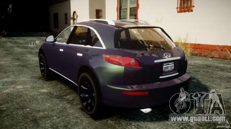 Infiniti FX45 2006 [Beta] for GTA 4 side view