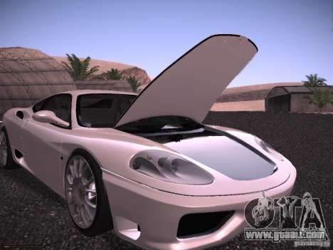 Ferrari 360 Modena for GTA San Andreas engine