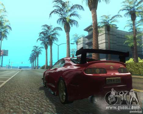 Toyota Supra Light Tuned for GTA San Andreas back left view