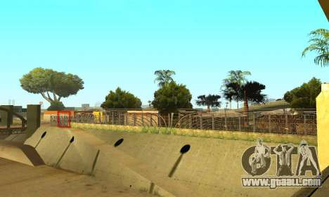 Fence around the Groove Sreet for GTA San Andreas fifth screenshot