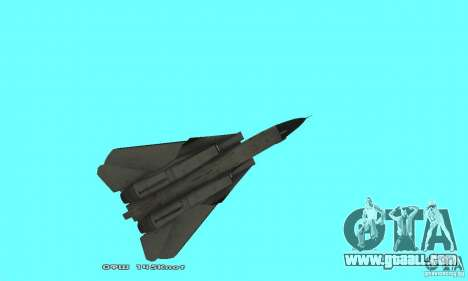F14W Super Weirdest Tomcat Skin 2 for GTA San Andreas side view