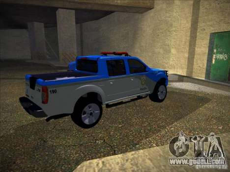 Nissan Frontier PMERJ for GTA San Andreas back left view