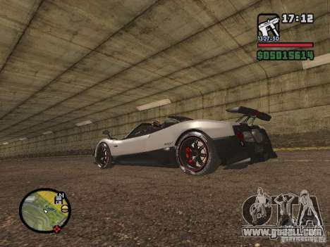 Pagani Zonda Cinque Roadster V2 for GTA San Andreas left view