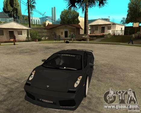 Lamborghini Gallardo HAMANN Tuning for GTA San Andreas back view