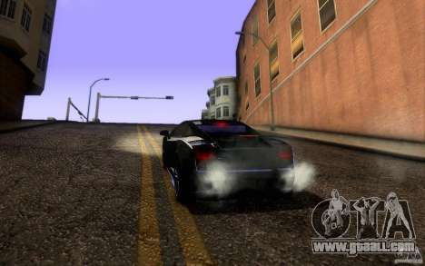 Lamborghini Gallardo Superleggera for GTA San Andreas upper view