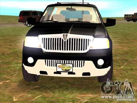 Lincoln Navigator for GTA San Andreas back view
