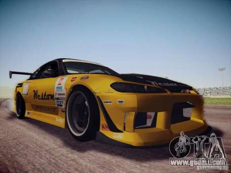 Nissan Silvia S15 Drift for GTA San Andreas back view