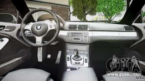 BMW M3 e46 v1.1 for GTA 4 bottom view