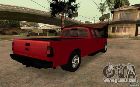 Ford F250 Super Dute for GTA San Andreas back left view