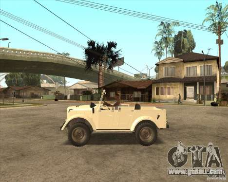 GAZ 69A for GTA San Andreas back left view