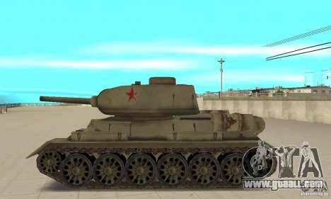 Tank T-34-85 for GTA San Andreas left view