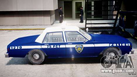 Chevrolet Impala Police 1983 [Final] for GTA 4 back left view