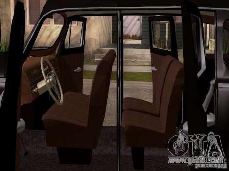 ZiS 110 for GTA San Andreas inner view