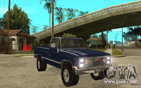 GMC Sierra 1986 for GTA San Andreas back view