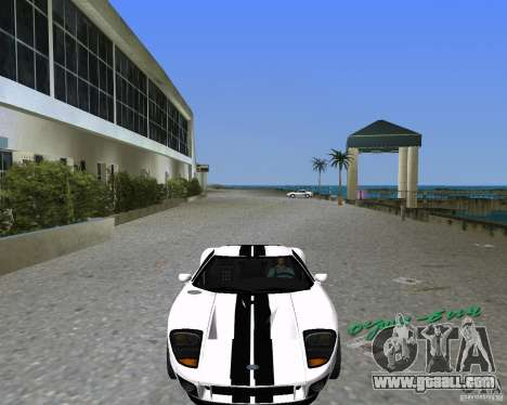 Ford GT for GTA Vice City left view