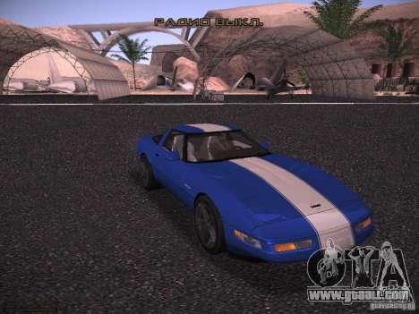 Chevrolet Corvette Grand Sport for GTA San Andreas inner view