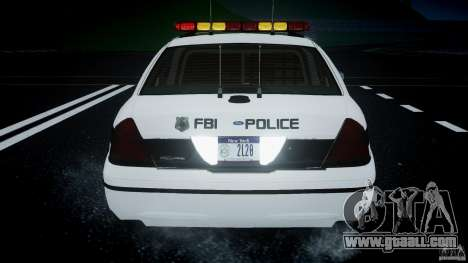 Ford Crown Victoria 2003 FBI Police V2.0 [ELS] for GTA 4
