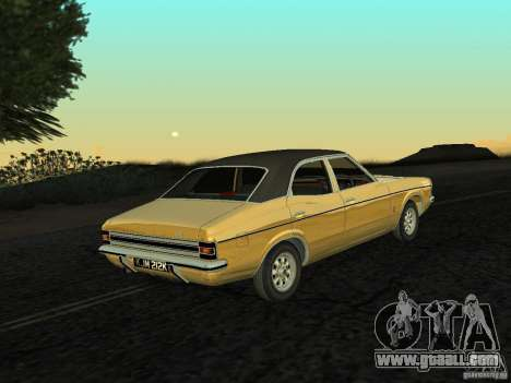 Ford Cortina MK 3 Life On Mars for GTA San Andreas left view