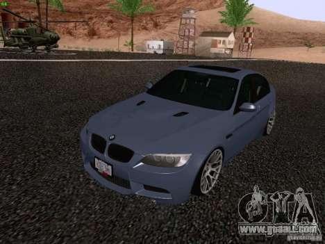 BMW M3 E90 Sedan 2009 for GTA San Andreas right view