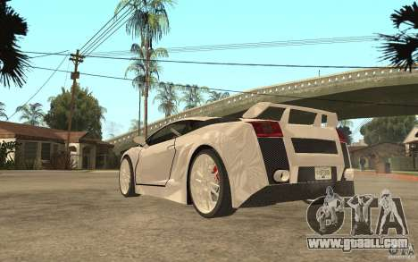 Lamborghini Gallardo MW for GTA San Andreas back left view