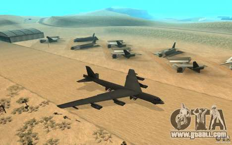 Boeing B-52 Stratofortress for GTA San Andreas right view
