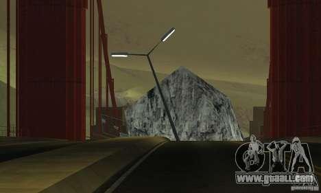 Destroyed bridge in San Fierro for GTA San Andreas fifth screenshot