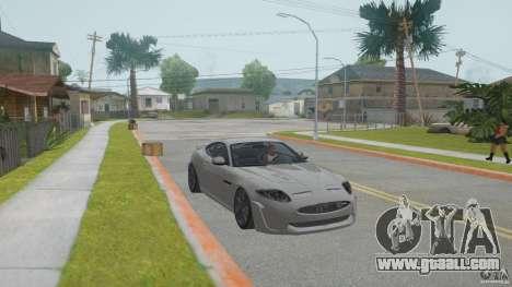 Jaguar XKR-S for GTA San Andreas back view