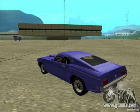 Ford Mustang Boss 429 1969 for GTA San Andreas right view