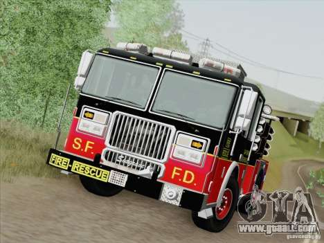 Seagrave Marauder Engine SFFD for GTA San Andreas upper view