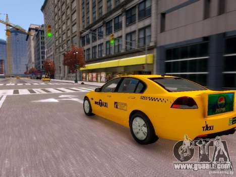 Holden NYC Taxi V.3.0 for GTA 4 back view