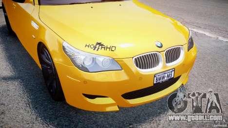 BMW M5 E60 2009 for GTA 4 wheels