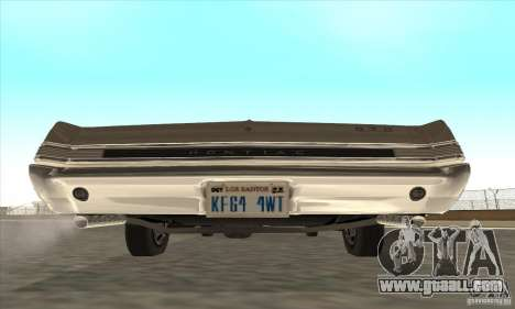 Pontiac GT-100 for GTA San Andreas back left view