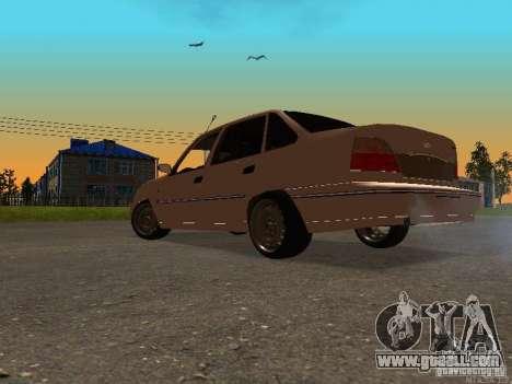 Daewoo Nexia for GTA San Andreas back left view