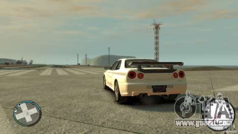 Nissan Skyline GTR R34 Mine s for GTA 4 left view