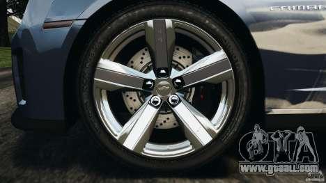 Chevrolet Camaro ZL1 2012 v1.0 Smoke Stripe for GTA 4 bottom view