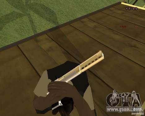 Chrome Desert Eagle for GTA San Andreas third screenshot