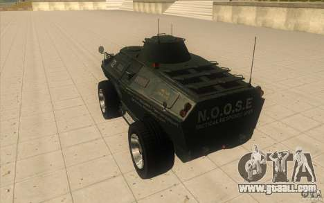 APCS of the GTA 4 TBOGT Original With Texture for GTA San Andreas back left view