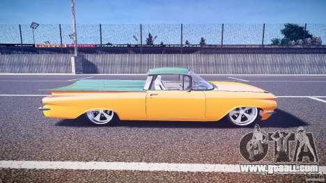 Chevrolet El Camino Custom 1959 for GTA 4 inner view