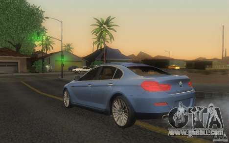 BMW 6 Series Gran Coupe 2013 for GTA San Andreas left view