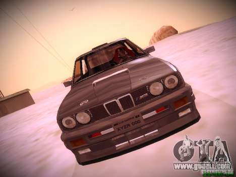 BMW M3 Drift for GTA San Andreas back left view