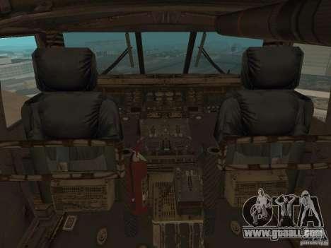 UH-60 Black Hawk for GTA San Andreas back view