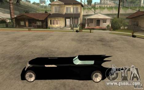 Batmobile Tas v 1.5 for GTA San Andreas left view