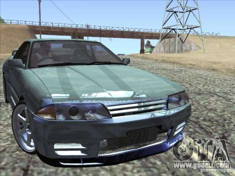 Nissan Skyline GT-R 32 1993 for GTA San Andreas back view